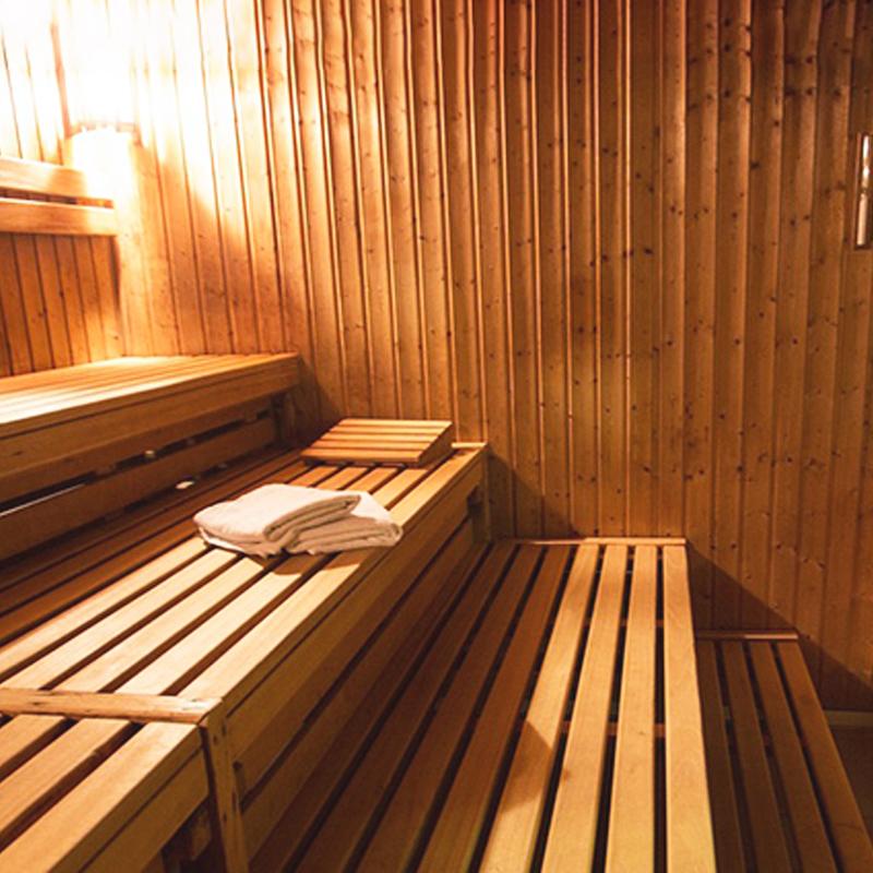 Saunas con rejillas de ventilación